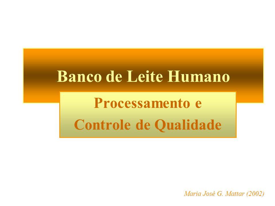 Processamento e Controle de Qualidade