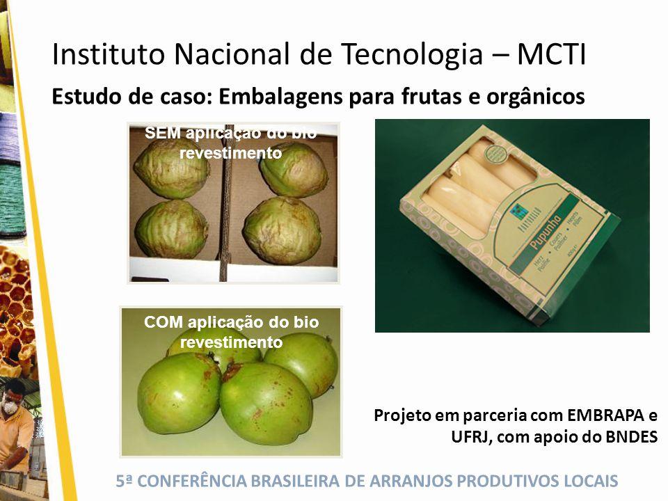 SEM aplicação do bio revestimento COM aplicação do bio revestimento