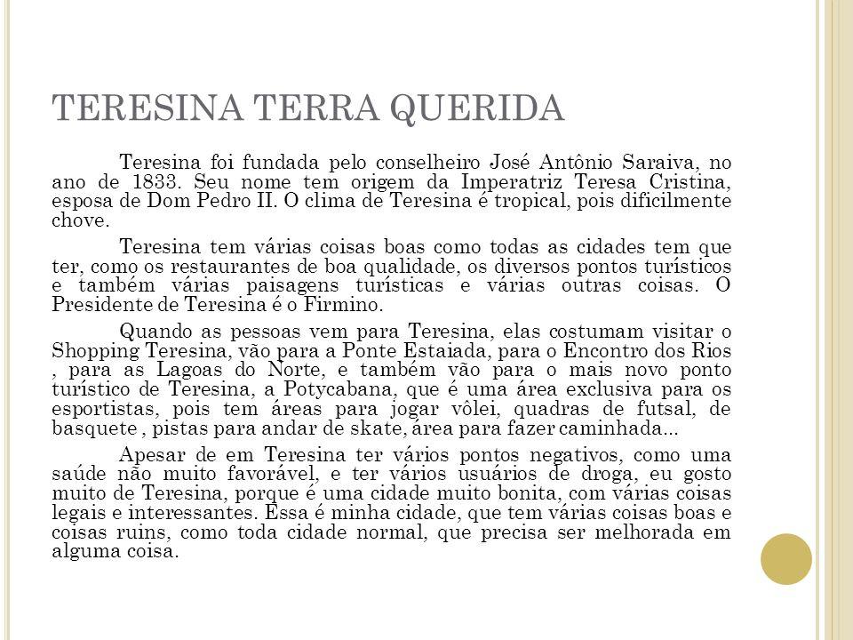 TERESINA TERRA QUERIDA