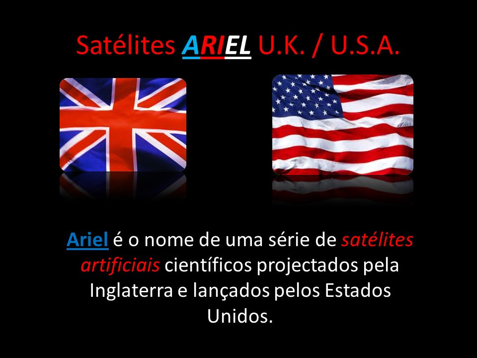 Satélites ARIEL U.K. / U.S.A.