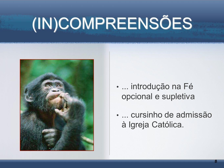 (IN)COMPREENSÕES ... introdução na Fé opcional e supletiva