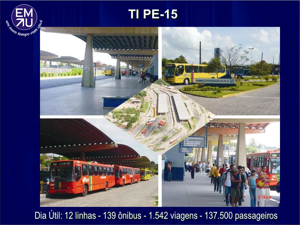 Dia Útil: 12 linhas - 139 ônibus - 1.542 viagens - 137.500 passageiros