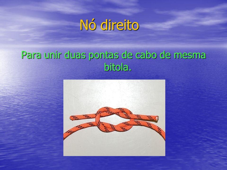 Para unir duas pontas de cabo de mesma bitola.