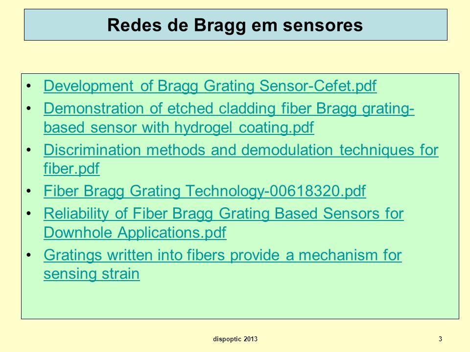 Redes de Bragg em sensores