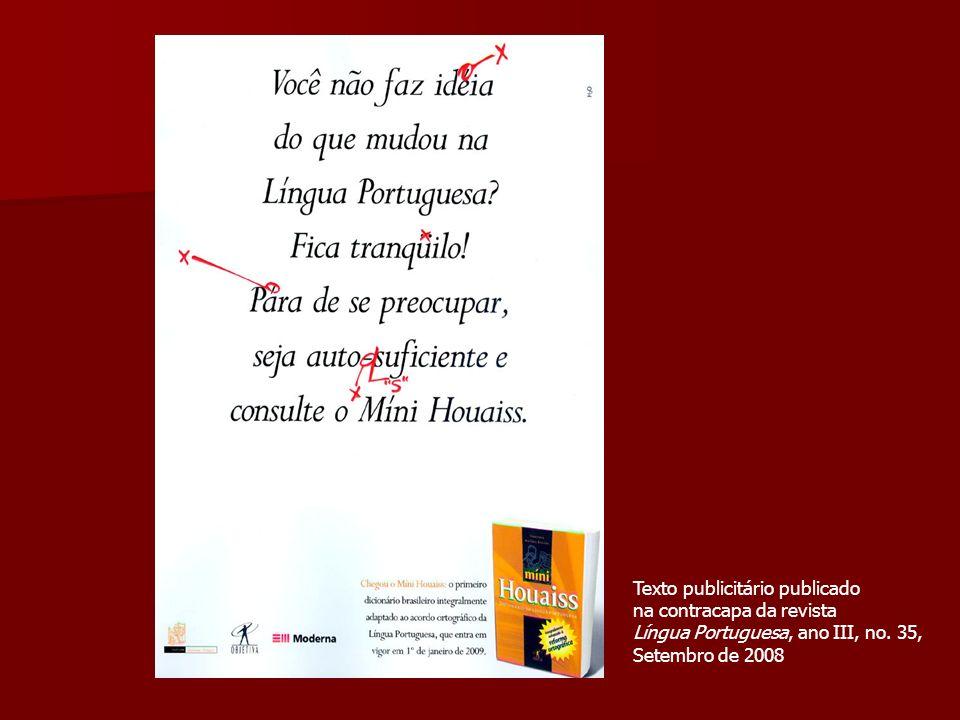 Texto publicitário publicado
