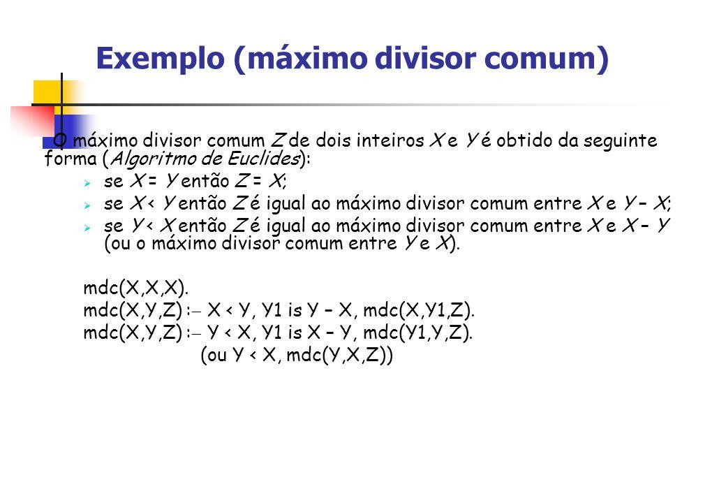 Exemplo (máximo divisor comum)