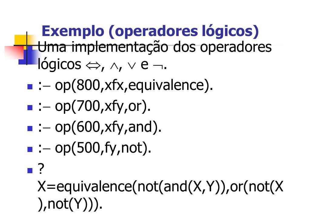Exemplo (operadores lógicos)