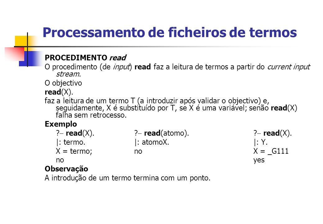 Processamento de ficheiros de termos