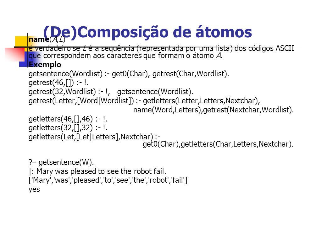 (De)Composição de átomos