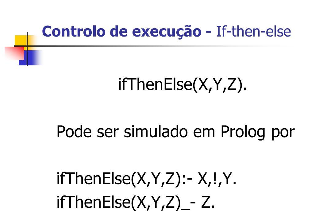 Controlo de execução - If-then-else