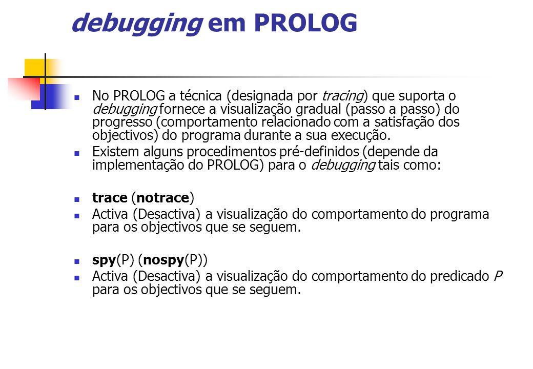 debugging em PROLOG