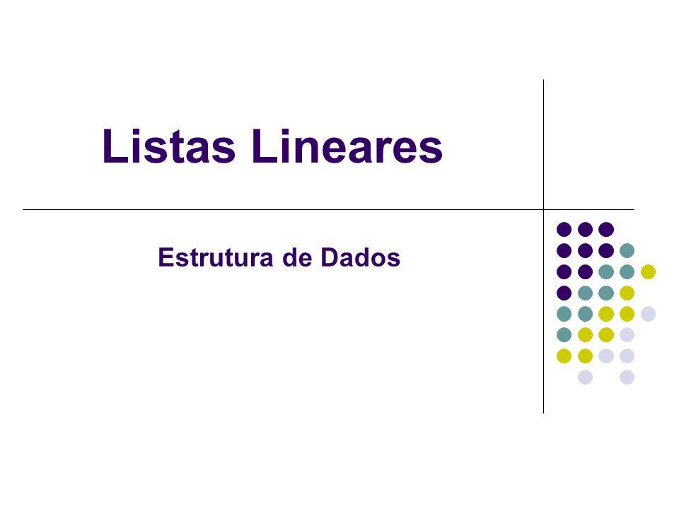 Listas Lineares Estrutura de Dados