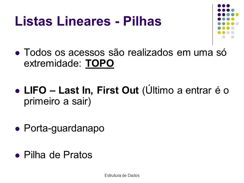 Listas Lineares - Pilhas