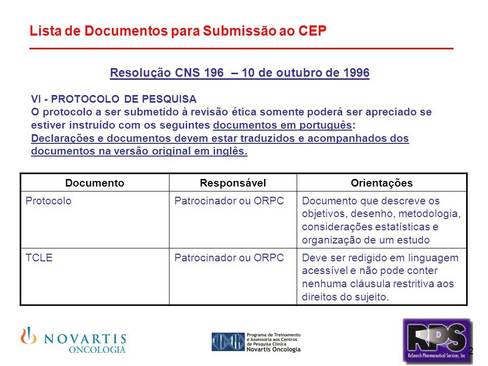 Resolução CNS 196 – 10 de outubro de 1996