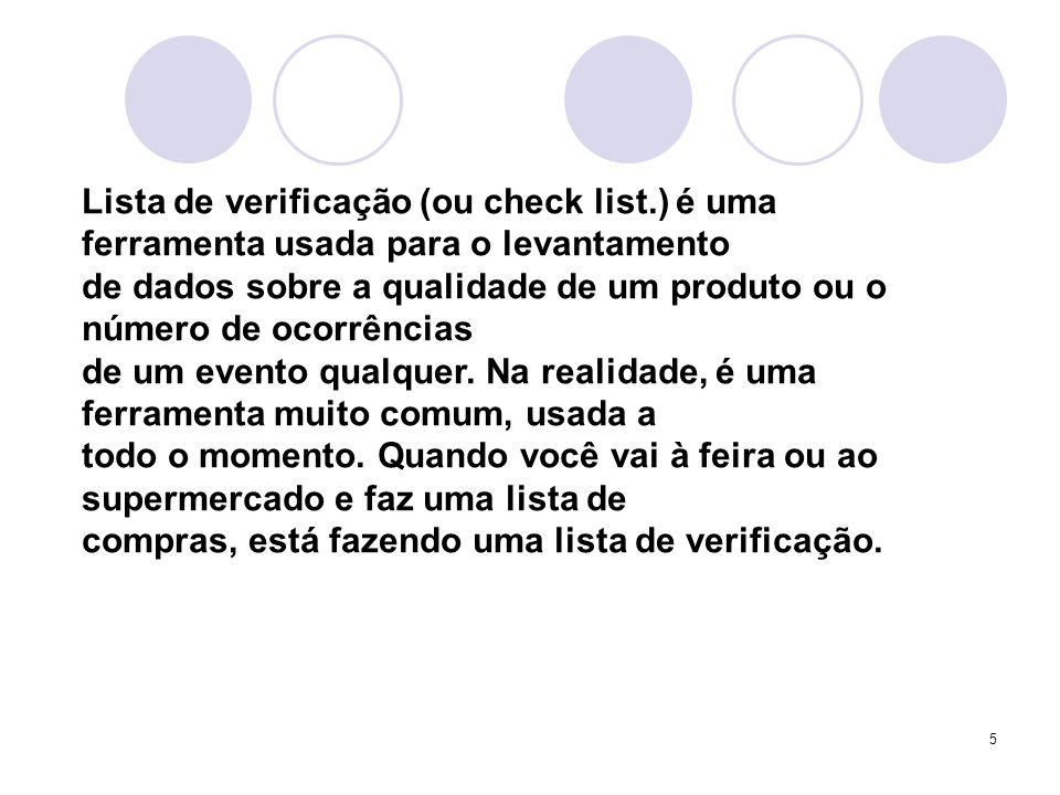 Lista de verificação (ou check list