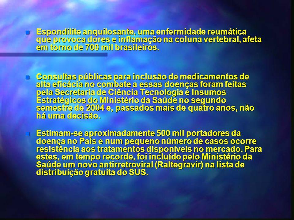 Espondilite anquilosante, uma enfermidade reumática que provoca dores e inflamação na coluna vertebral, afeta em torno de 700 mil brasileiros.