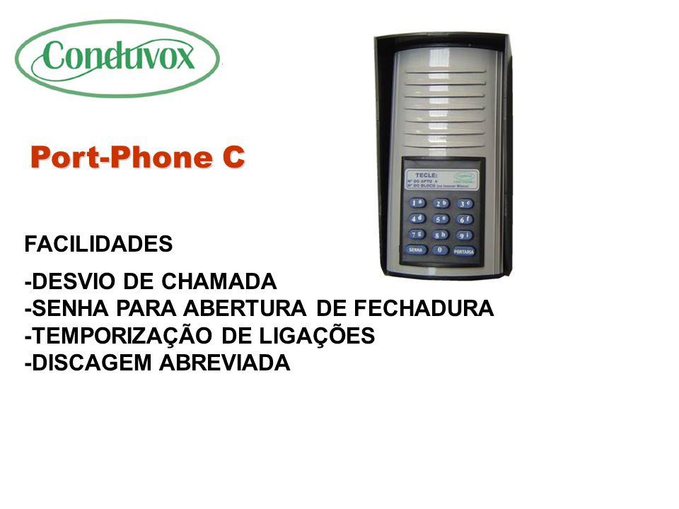 Port-Phone C FACILIDADES -DESVIO DE CHAMADA