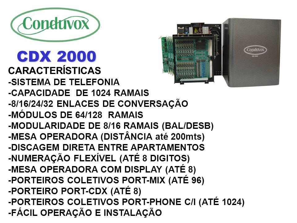 CDX 2000 CARACTERÍSTICAS -SISTEMA DE TELEFONIA