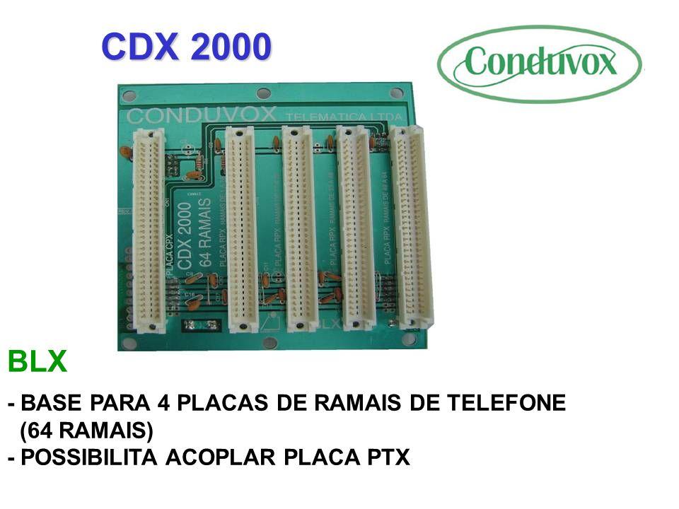 CDX 2000 BLX - BASE PARA 4 PLACAS DE RAMAIS DE TELEFONE (64 RAMAIS)
