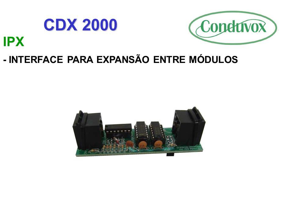 IPX - INTERFACE PARA EXPANSÃO ENTRE MÓDULOS CDX 2000