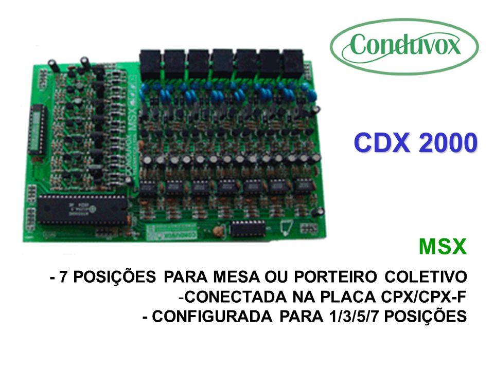 CDX 2000 MSX - 7 POSIÇÕES PARA MESA OU PORTEIRO COLETIVO
