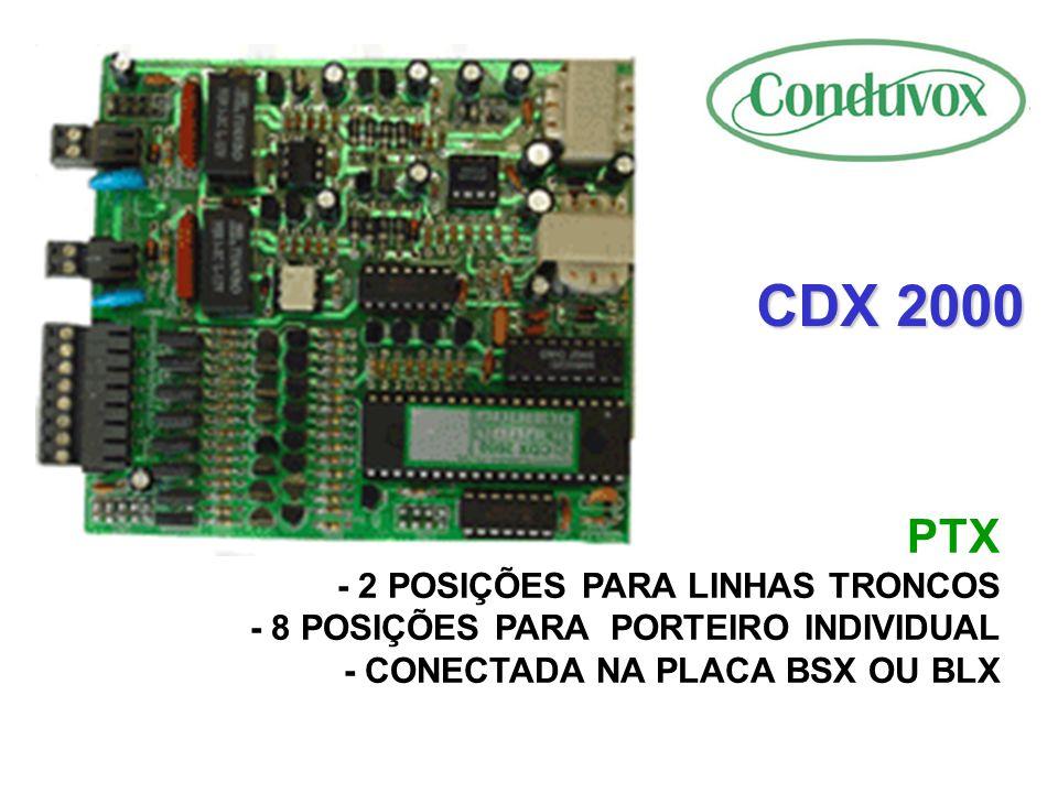CDX 2000 PTX - 2 POSIÇÕES PARA LINHAS TRONCOS