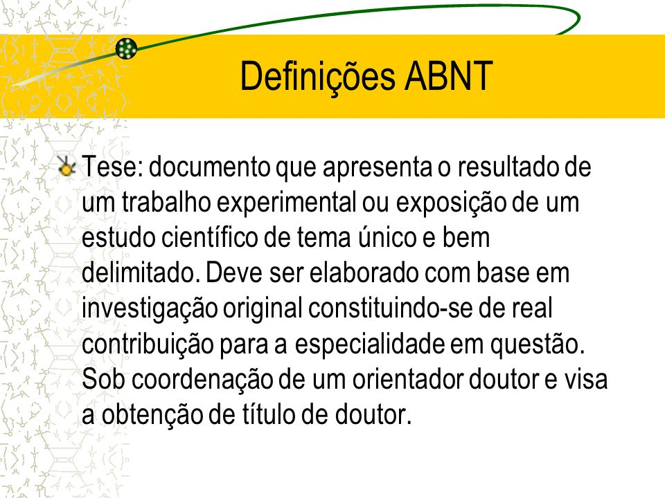 Definições ABNT