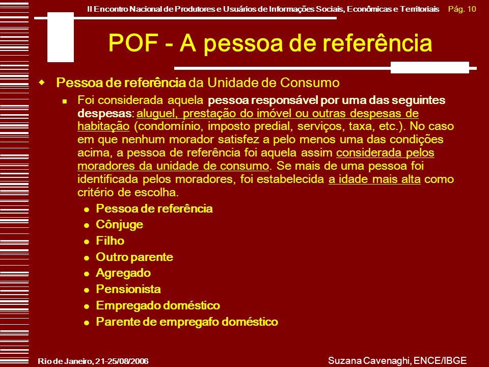 POF - A pessoa de referência