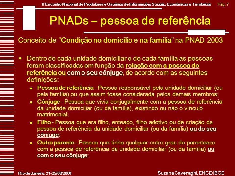PNADs – pessoa de referência