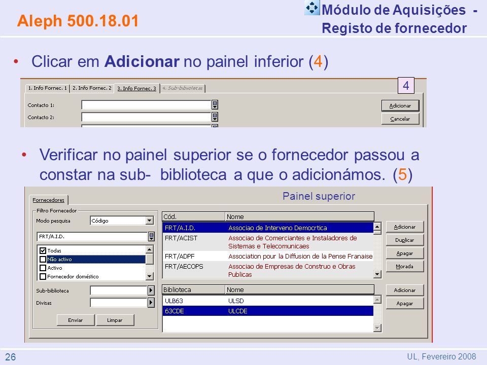 Clicar em Adicionar no painel inferior (4)