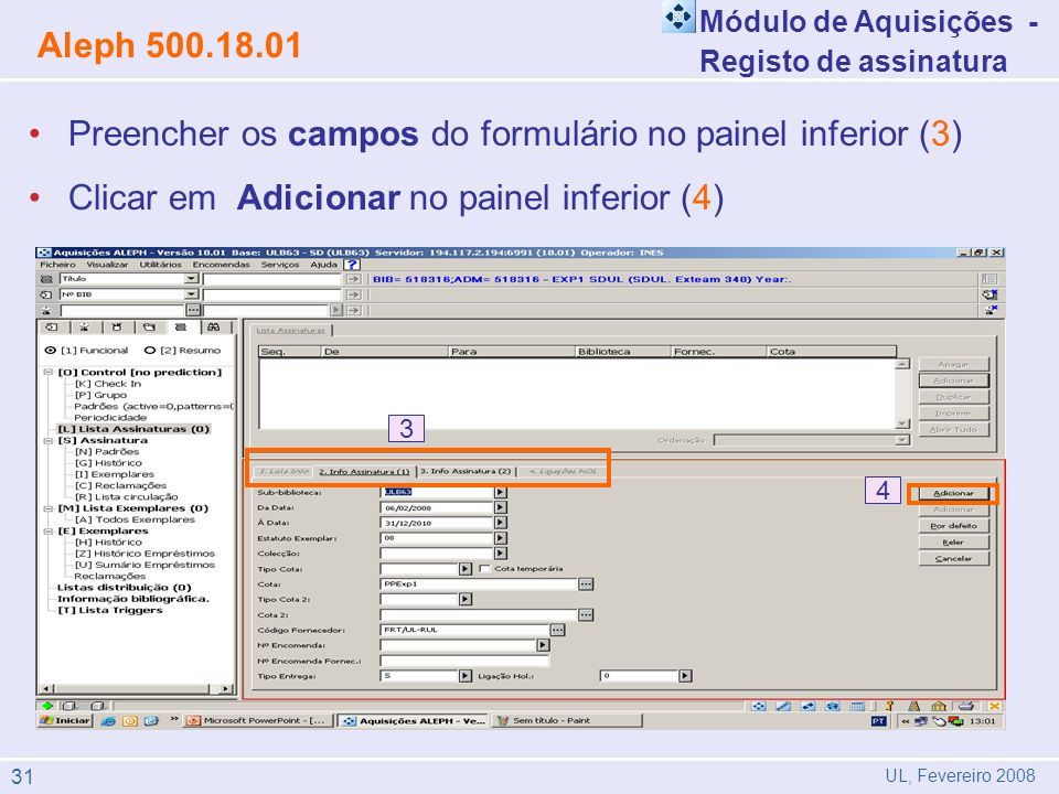 Preencher os campos do formulário no painel inferior (3)