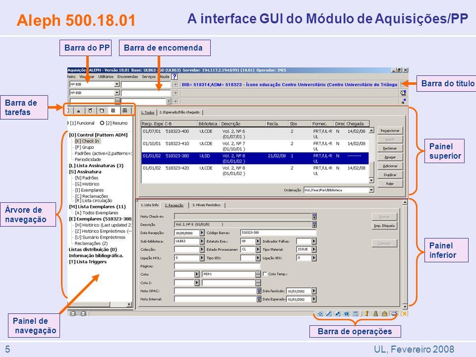 Aleph 500.18.01 A interface GUI do Módulo de Aquisições/PP 5