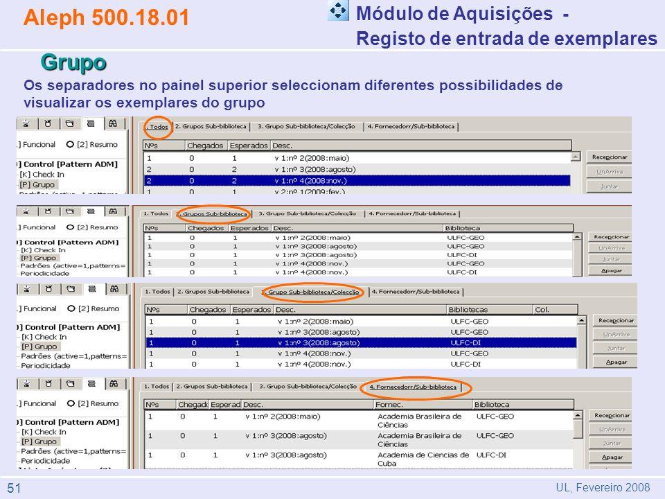 Aleph 500.18.01 Grupo Módulo de Aquisições -