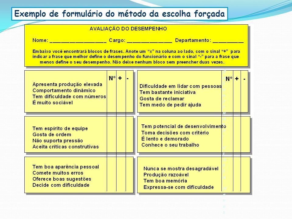 Exemplo de formulário do método da escolha forçada