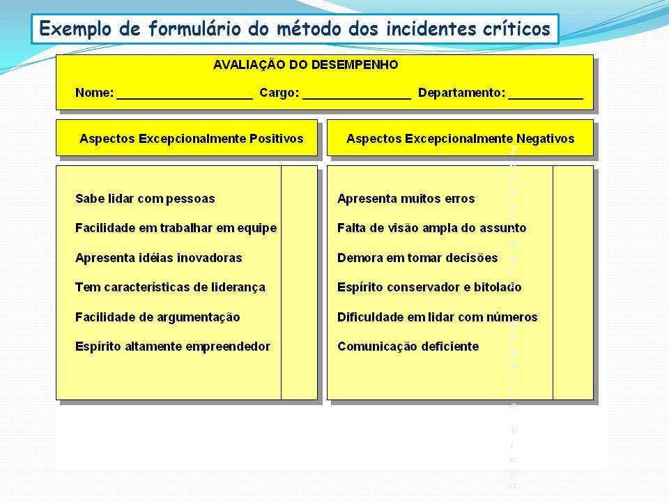 Exemplo de formulário do método dos incidentes críticos