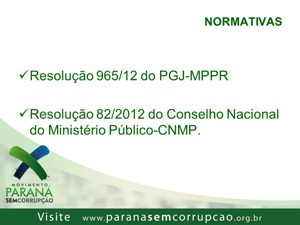 Resolução 965/12 do PGJ-MPPR