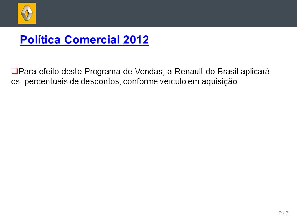 Política Comercial 2012