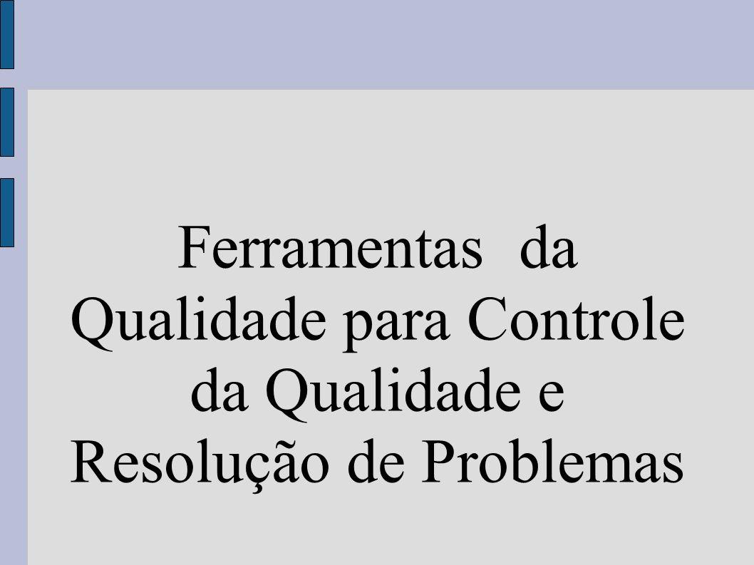 Ferramentas da Qualidade para Controle da Qualidade e Resolução de Problemas