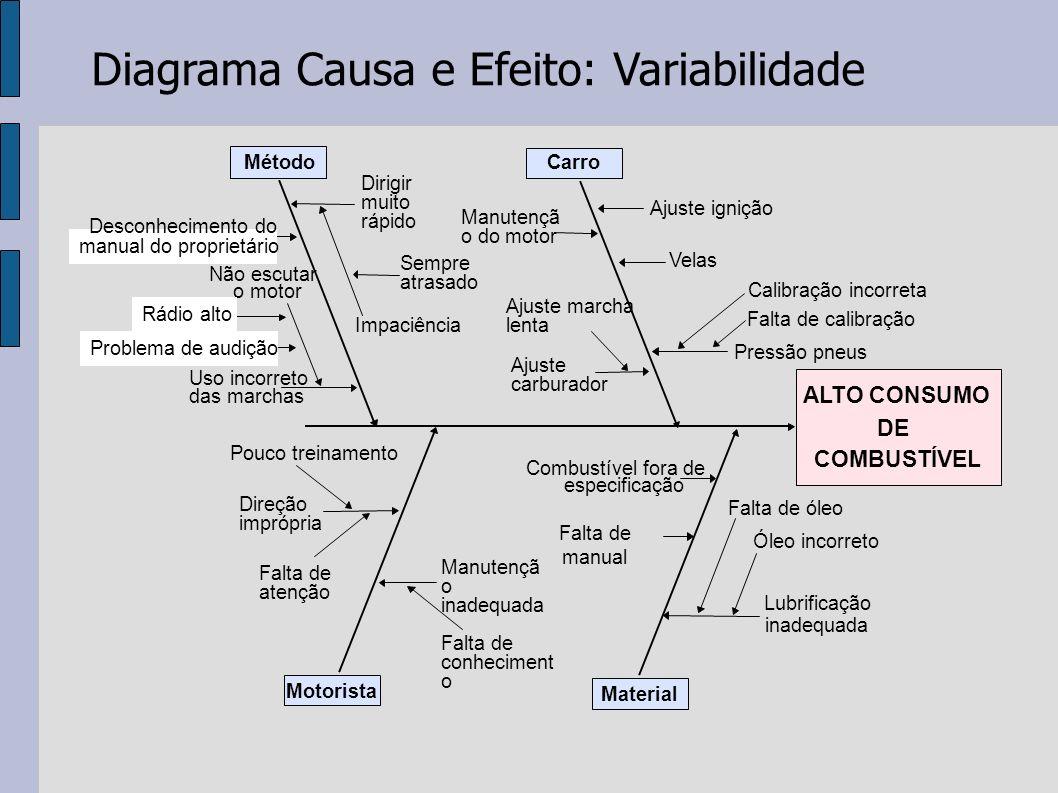 Diagrama Causa e Efeito: Variabilidade