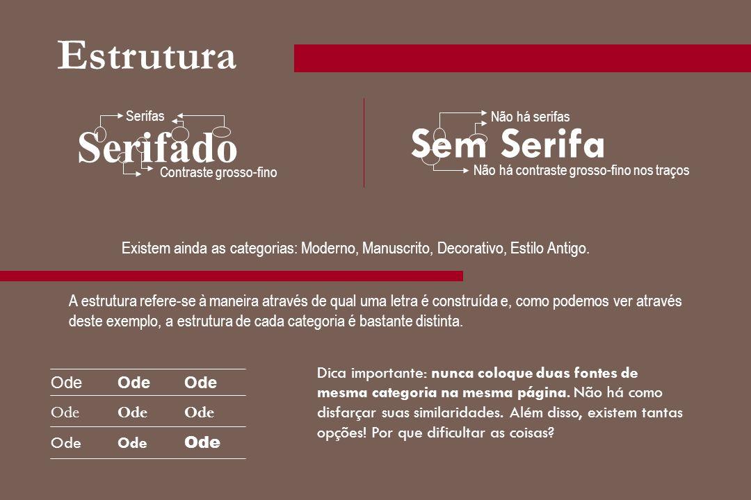 Estrutura Sem Serifa Serifado