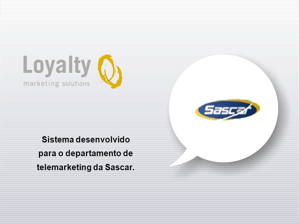 telemarketing da Sascar.