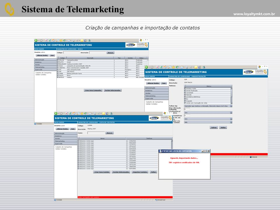 Sistema de Telemarketing
