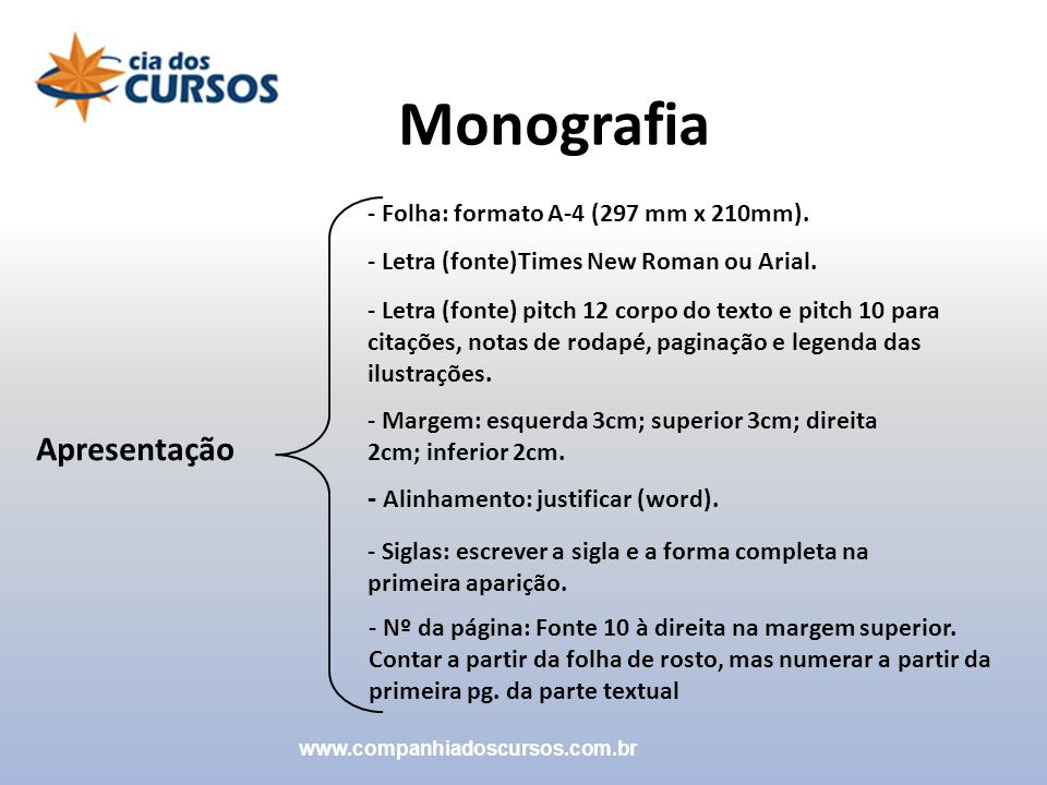 Monografia Apresentação - Alinhamento: justificar (word).