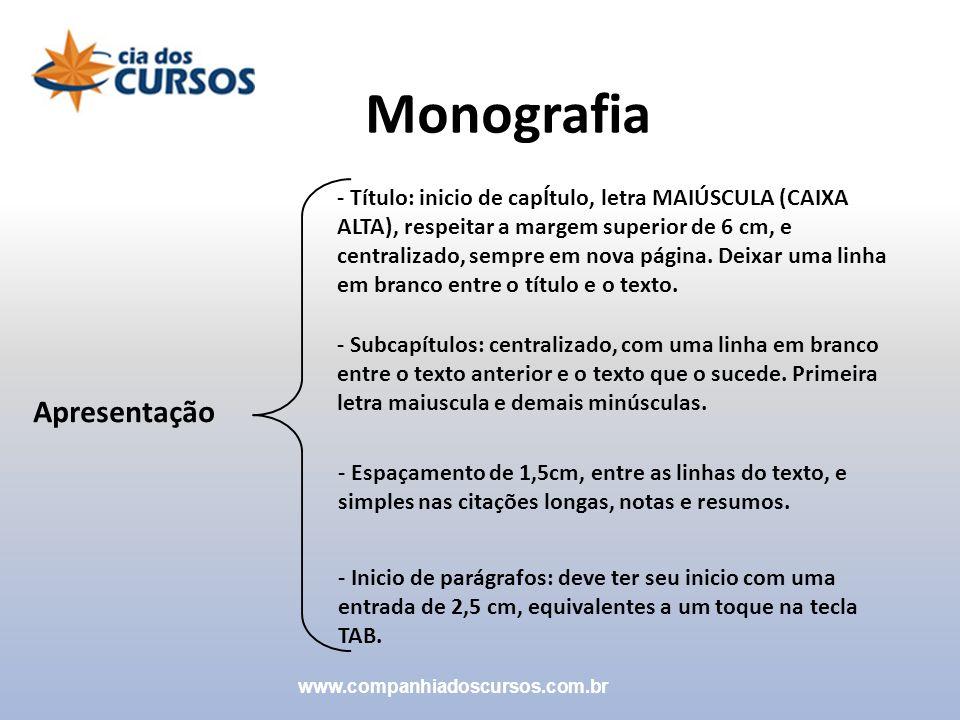 Monografia Apresentação