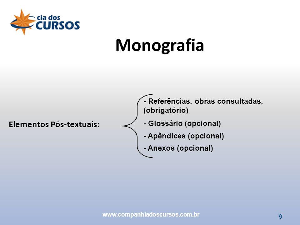 Monografia Elementos Pós-textuais: