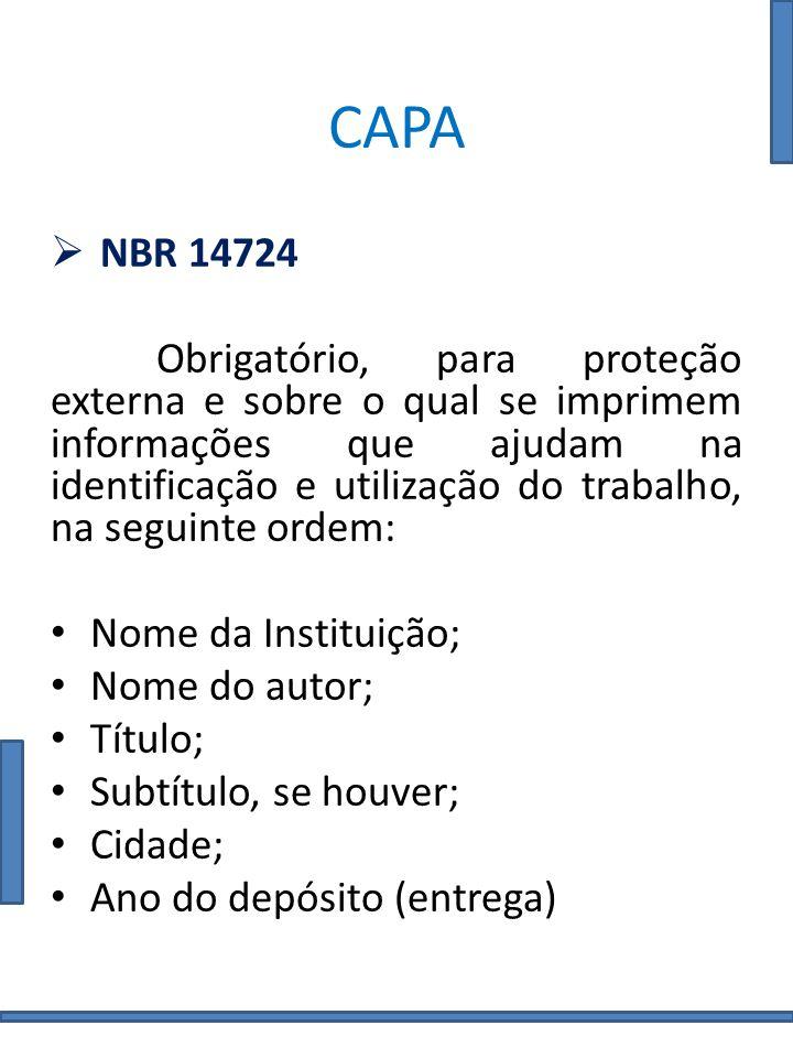 CAPA NBR 14724.