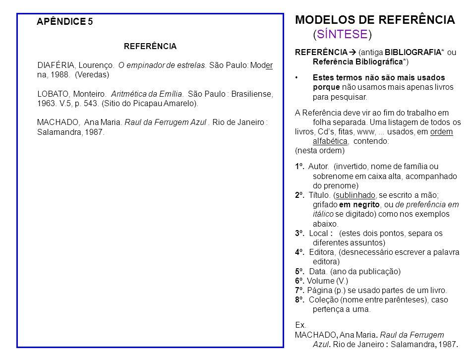 MODELOS DE REFERÊNCIA (SÍNTESE)