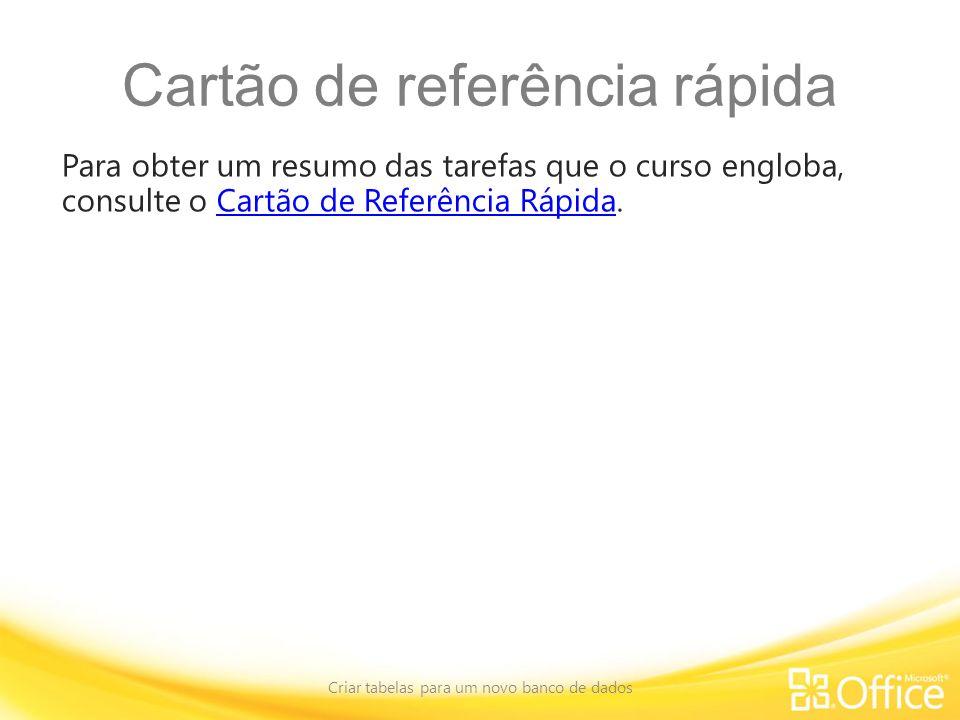 Cartão de referência rápida