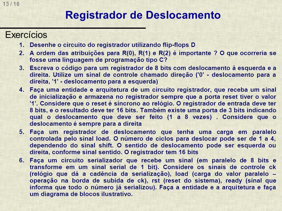 Registrador de Deslocamento