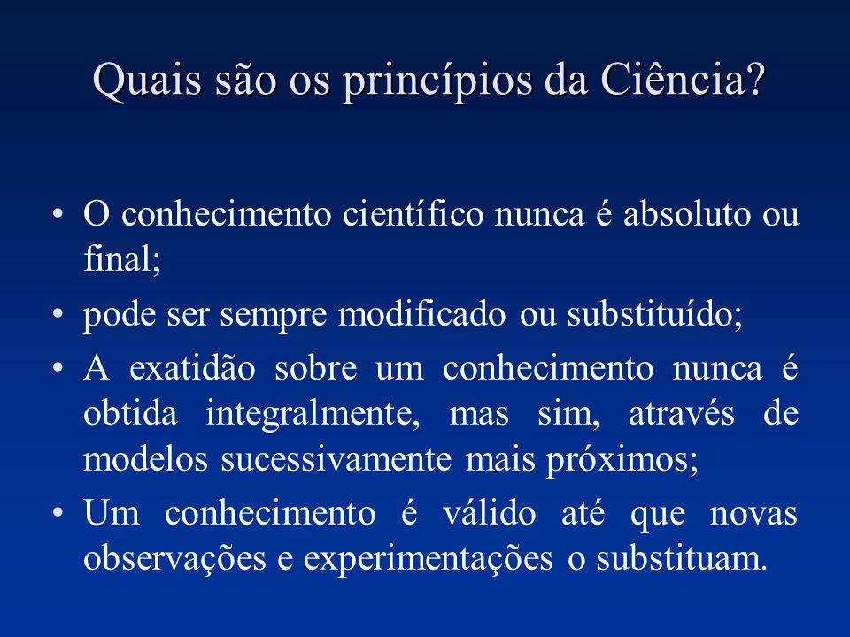 Quais são os princípios da Ciência